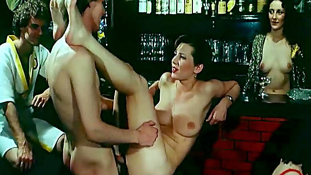 Horny ladies in classic group sex