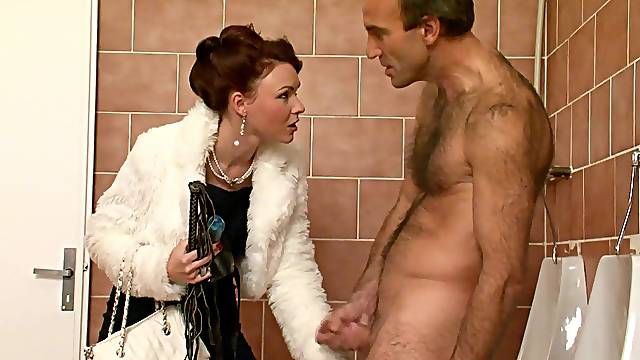 Full domination along slutty red hair woman
