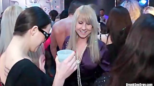 Sexy dance party with lots of hot chicks