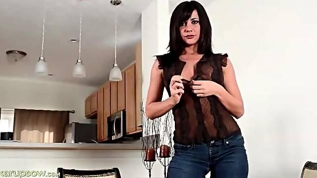 Mackenzie Marie sexy striptease from jeans