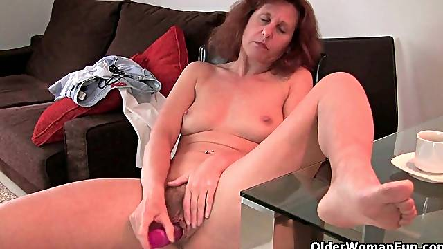 Hairy grandmas give their old pussy a treat