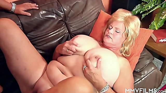 German Granny has Huge Tits
