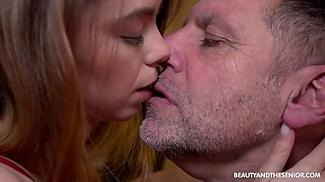 Chubby older man taps into young Lina Roselina's sexuality