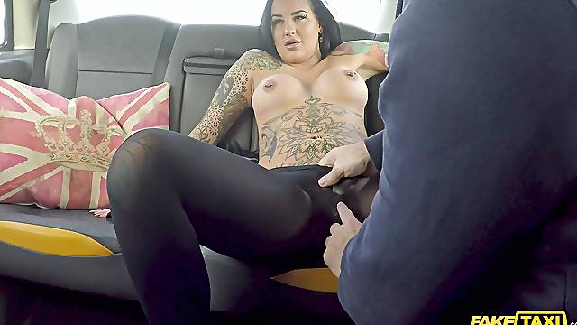 Beth Inked Princess shows lucky cabbie what a slut she is