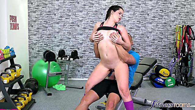 Cassie Fire does her thing at the gym and ends it with hot fucking