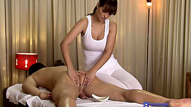 Celebrated masseuse Rita Peach gives a gent all he needs