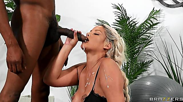 Black dude ass fucks Latina cougar after he gags her a lot