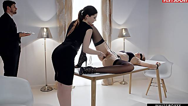 Elegant women think about sharing the cock like true divas