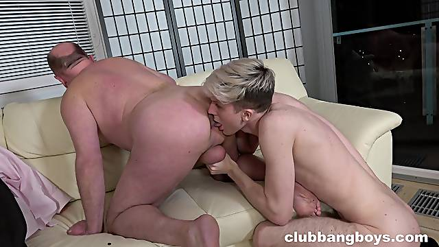 Crazy gay anal between a twink and his old stepdad