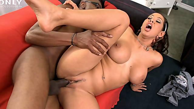 Aroused Latina with big tits, big time black porn