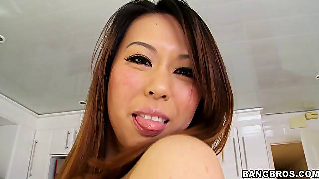 Homemade video of Asian cougar Tiger Benson getting fucked hard