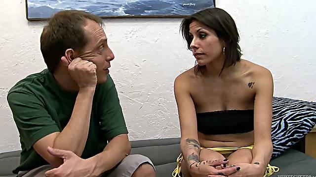 Horny wife Katrina Zova spreads her legs to be fucked good