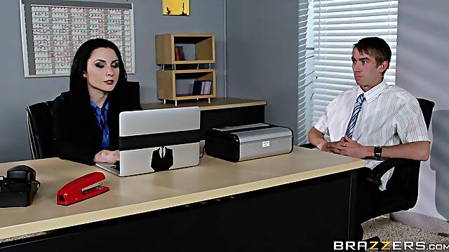 Veruca James fucked in her pussy and ass on the office table