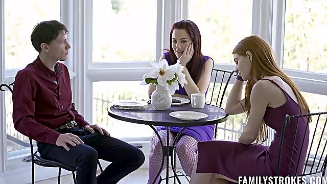 Naughty cuties Jane Rogers and Jessica Ryan seduce the Easter bunny