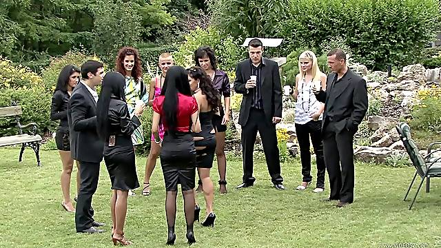 A Great Orgy With Drunk Hotties In A Patio