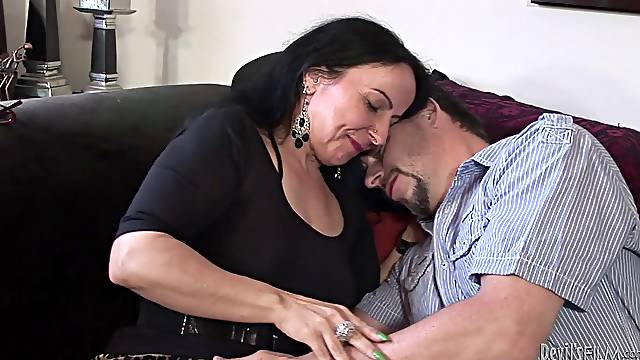 Rough sex with the mature brunette Miss Nina Swiss