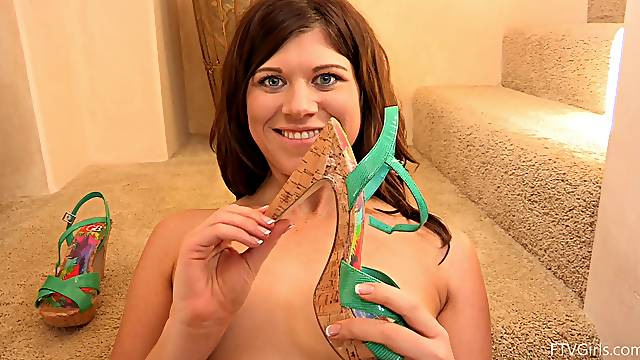 Cute amateur girl with small tits enjoys inserting a dildo in her cunt