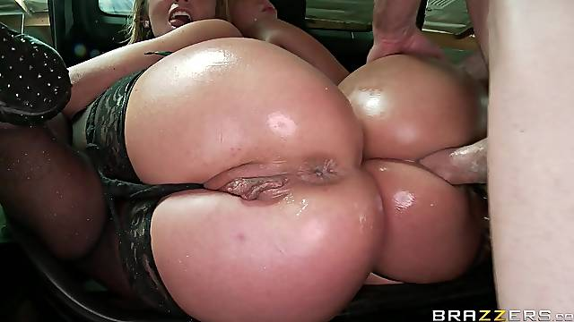 Close up video of Jada Stevens and Sheena Shaw in a threesome